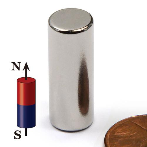 "3/8""x1"" Neodymium Rare Earth Cylindrical Magnet"
