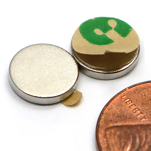 10X1mm w/ 3M Adhesive Neodymium Magnets