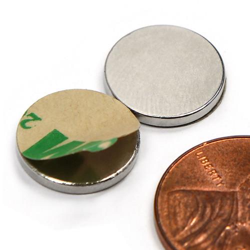 """1/2X1/16"""" w/ 3M Adhesive Neodymium Magnets"""