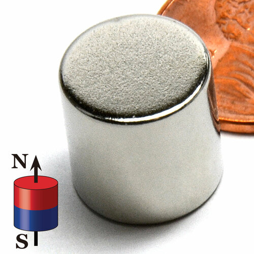 """N52 Disc 1/2x1/2"""" Rare Earth Magnet"""