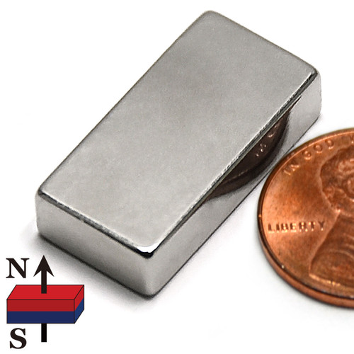 "N52  1""x1/2""x1/4"" Rare Earth Magnet"