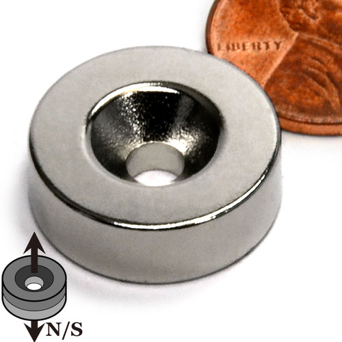 neodymium disc magnet with countersunk