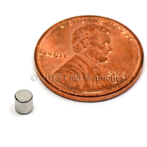 """N50 Neodymium Cylinder Magnet 1/8""""x1/8"""" Rare Earth Cylinder Magnets (ND0068-50NM)"""