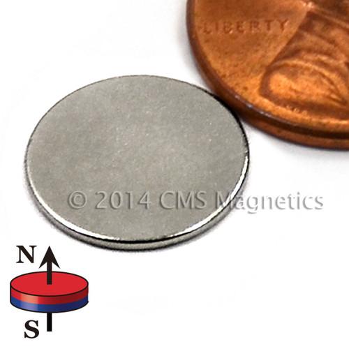 """1/2""""X1/32"""" NdFeB Rare Earth N52 Neodymium Disc Magnet 1/2""""x1/32"""""""