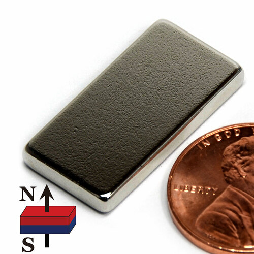 "N52 1 x 1/2 x1/8"" Rare Earth Magnet"