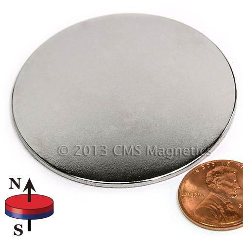 "2 x 1/16"" N45 Neodymium disc Magnet"