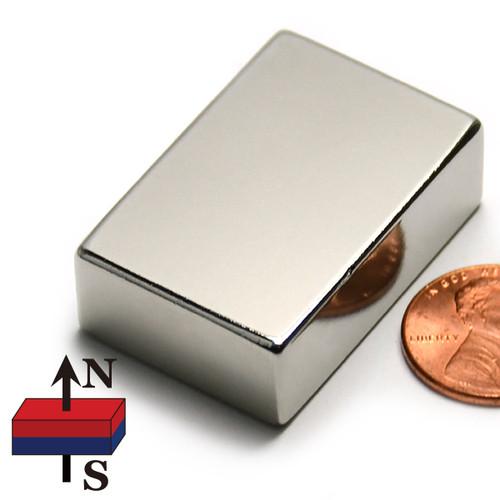 "Block Neodymium Magnet Block Magnet Neodymium N45 1-1/2""x1""x1/2"""