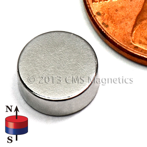 "Neodymium Magnet Disc Magnet Rare Earth Neodymium N45 5/16""x1/8"""