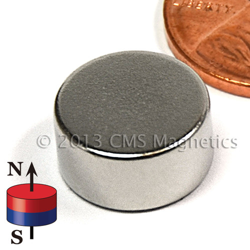 "N45 1/2""x1/4"" Neodymium Rare Earth Disc Magnet (ND038-45NM) ("