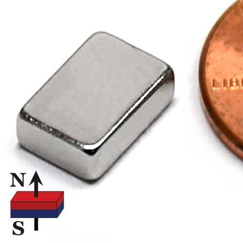 "Small Neodymium Block Magnets 3/8x1/4x1/8"" N45 Rare Earth Magnets"