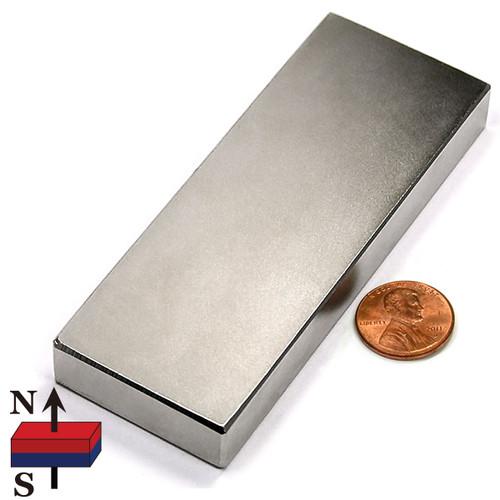 "Neodymium Rare Earth Block Magnet N42 4""x1-1/2""x1/2"""