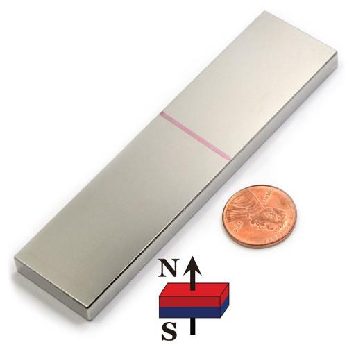 """4""""x1""""x1/4"""" Neodymium Rare Earth Block Magnet"""