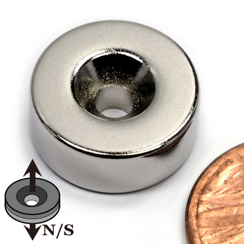 Neodymium Rare Earth Disc Magnet with #6 Countersink