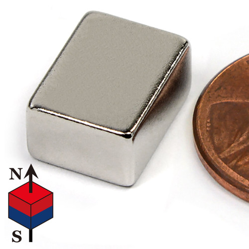 "N50 Neodymium Magnet N50 Neodymium Magnets 1/2 x3/8 x1/4"" Rare Earth Block Magnets (NB00866-50NM)"