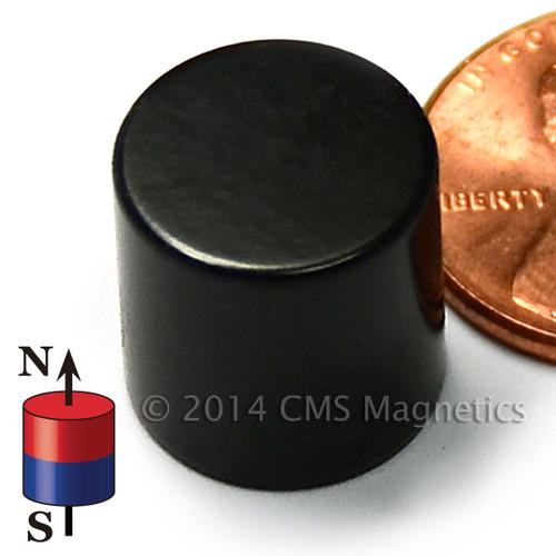 "N45 1/2""x1/2"" Neodymium Rare Earth Cylindrical Magnet Epoxy Coated"