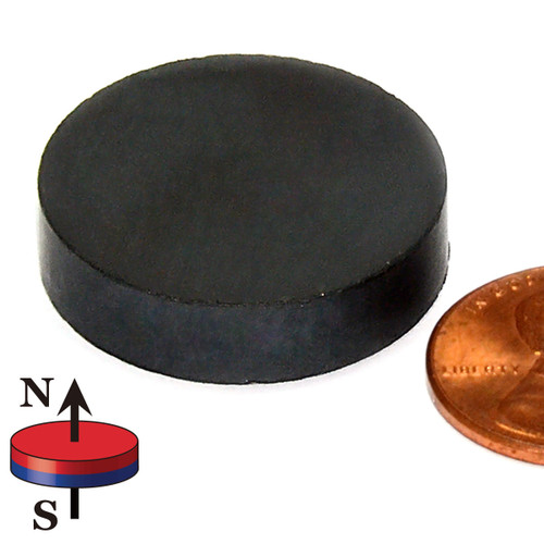 """Ceramic Magnets C8 Ceramic Magnet Dia 1""""X0.25"""" Hard Ferrite Magnet (CD030)"""