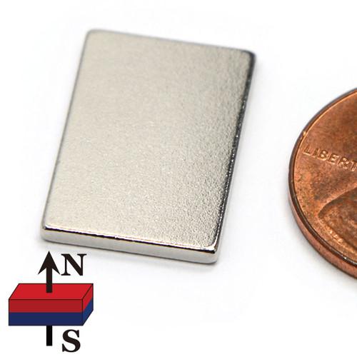 "Neodymium Rare Earth Block Magnet N45 3/4""x1/2""x1/16"""