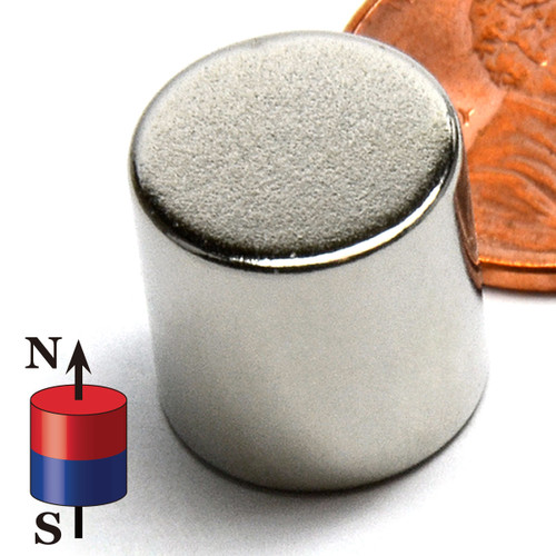"N50 1/2x1/2"" NdFeB Rare Earth Disc"