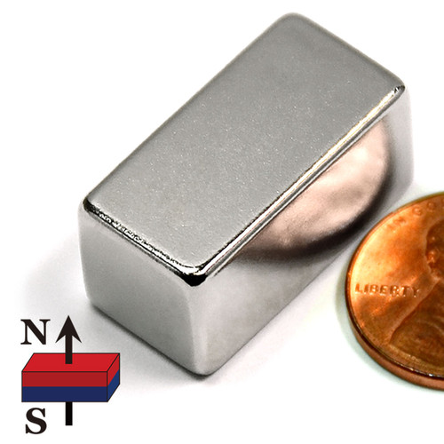 "1""x1/2""x1/2"" Rectangular Rare Earth Magnets"