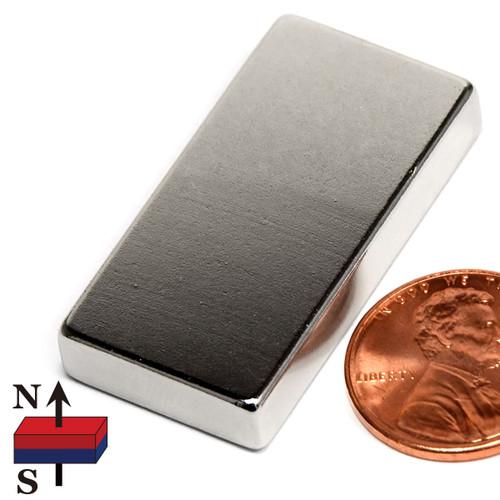 "1.5x3/4x1/4"" NdFeB Rare Earth Magnet"