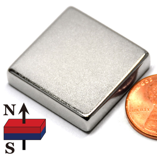 "N50 1""x1""x1/4"" NdFeB Rare Earth Magnets"
