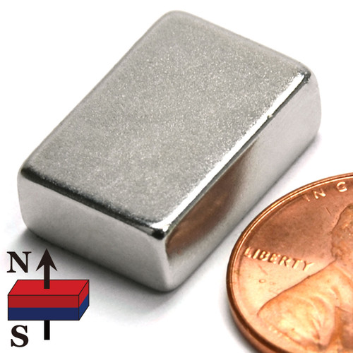 "3/4""x1/2""x1/4"" NdFeB Rare Earth Magnets"