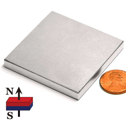 "2x2x1/4"" NdFeB Rare Earth Rectangular Magnets"