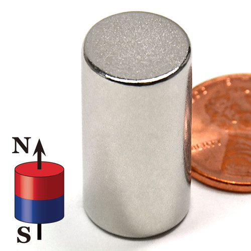 "N50 Cylindrical 1/2X1"" NdFeB Rare Earth"