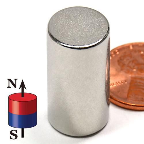 """N50 Cylindrical 1/2X1"""" NdFeB Rare Earth"""