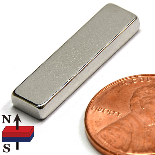 "1""x1/4""x1/8"" NdFeB Rare Earth Magnets"