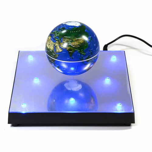 Magnetic Levitation Flat Base Blue Globe