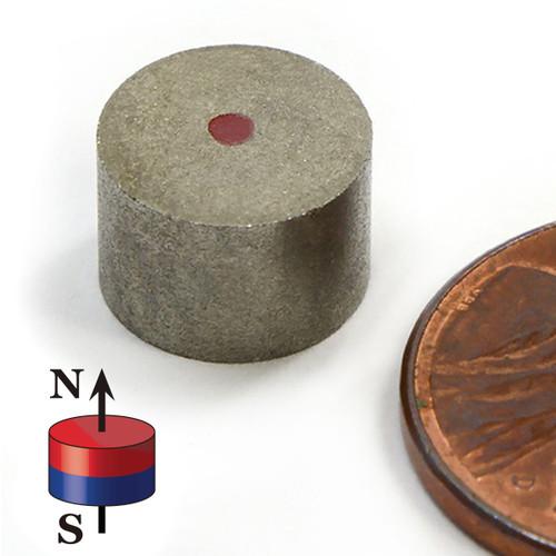 "Samarium Cobalt Magnets Dia 1/4x1"" SmCo Cylinder Magnet 527 F Temperature (SMD0245-26)"