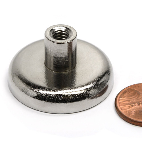 Neodymium Cup Magnet w/ Female Threaded Stud