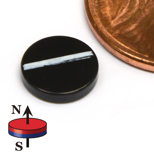 "Neodymium Magnets Dia 5/16x1/16"" Black Epoxy Coated"