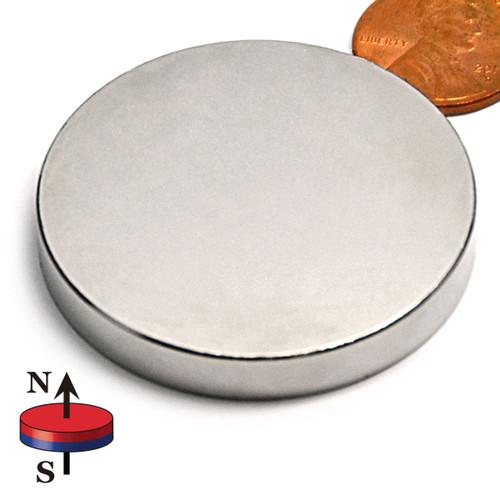 "1 3/4X1/4"" N45 Disc Neodymium Magnet"