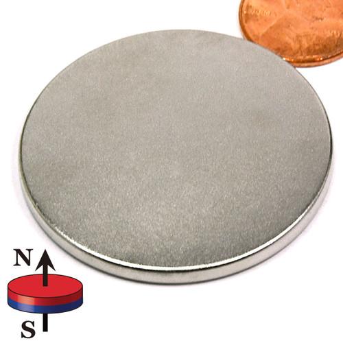 "1 3/4""X1/8""  N45 Disc Neodymium Magnet"