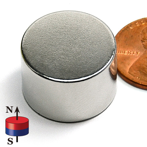 "3/4X1/2"" NdFeB Rare Earth Disc Magnet"