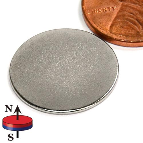 "3/4X1/32"" NdFeB Rare Earth Disc Magnet"