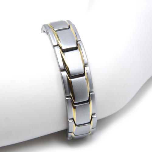 Magnetic Bracelet Novoa Men's Satin Titanium