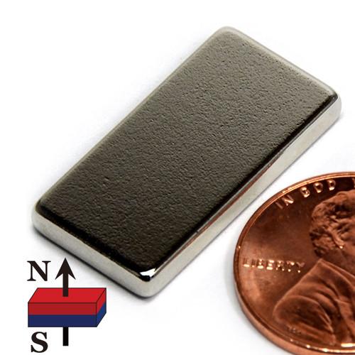 "1""x1/2""x1/8"" Rare Earth NdFeB Magnets"