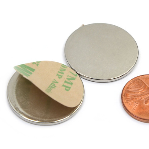 1//2 x 1//8 Inch Strong Neodymium Disc Magnets N52 with 3M Self-Adhesive 24 Pack