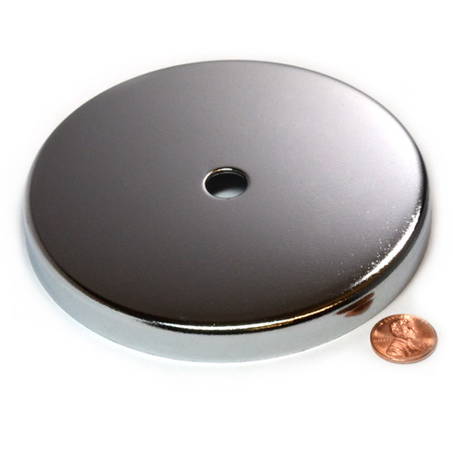 """Cms Magnetics 35 Lb Holding Power Round Base Magnet Rb50 2/"""" Cup Magnets 5 Co Str"""
