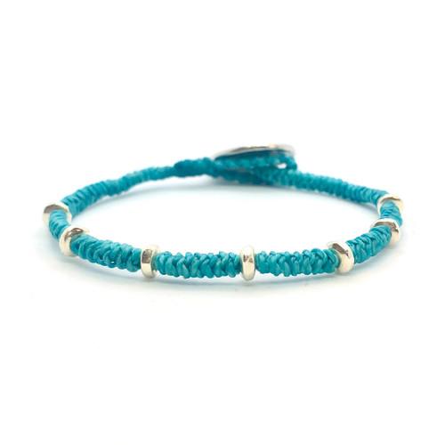 Kaha Bracelet - silver/turquoise