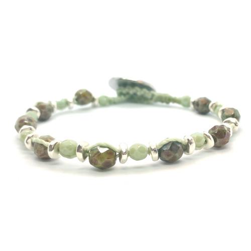 Spirit Bracelet - silver/mint