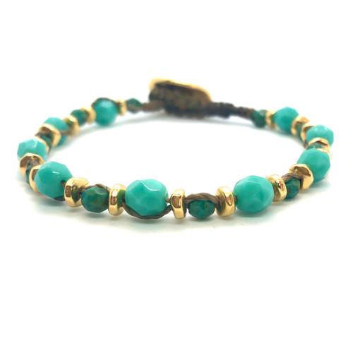 Spirit Bracelet - gold/turquoise