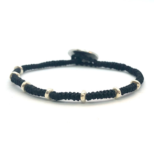 Kaha Bracelet - silver/black