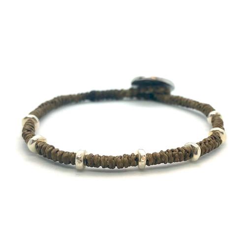 Kaha Bracelet - silver/brown