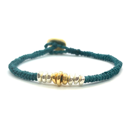 Grace Bracelet - emerald/gold