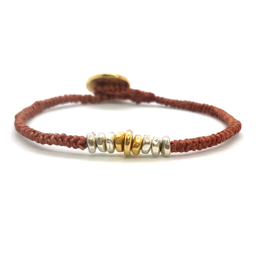 Grace Bracelet - rust/gold