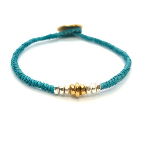 Grace Bracelet - turquoise/gold
